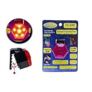 Dura Vision Clip On RED 6 LED Light   Purple Cover Cell