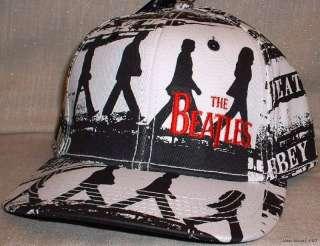 The Beatles ABBEY ROAD B/W Flex Fit Baseball Cap HAT