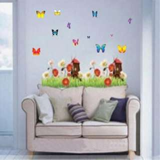 15 Style Home Room Decor Decal Art Flower Cartoon Combinative Wall
