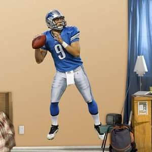 com Matthew Stafford Detroit Lions NFL Fathead REAL.BIG Wall Graphics