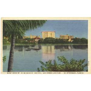 Postcard Suwannee Hotel and Mirror Lake Park   St. Petersburg Florida