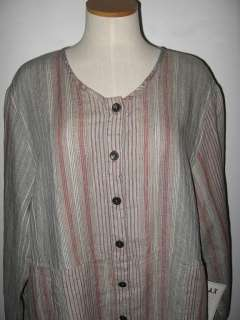 SUMMER FLAX LINEN ARTSY GOT YOUR BACK TUNIC CARDIGAN BUTTON SHIRT
