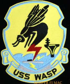 USS WASP CV18 AIRCRAFT CARRIER US NAVY PATCH