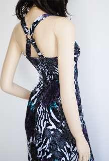 NEW White&Black Big Flower Ladies Long Maxi Dress S/M
