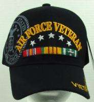 NEW BLACK U.S. AIR FORCE VIETNAM VETERAN BASEBALL CAP/HAT