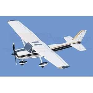 Cessna 150/152, White w/ Blue & Gold Trim Aircraft Model