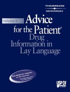 USP Di Volume II  Advice for the Patient, Drug Information in Lay