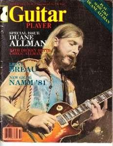 Vintage Music Magazine Duane Allman Vol. 15 No. 10 October 1981