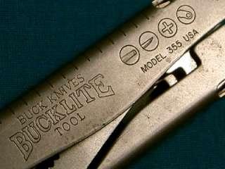 VINTAGE BUCK 355 USA BUCKLITE TOOL BUCKTOOL MULTI PLIERS KNIFE KNIVES