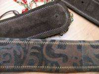 STREETS AHEAD LADIES BROWN LEATHER BELT/SIZE S/USED/EXC