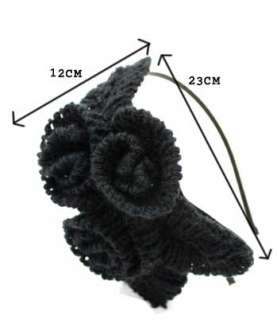 Korean Famous Actor Flower Knit Headband Hair /5 Colors