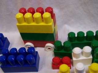 Jumbo Mega Bloks Brick Toddler Size Building Blocks W/ Cars
