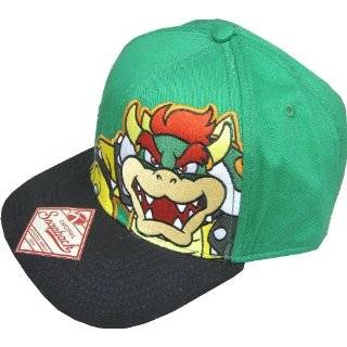 Nintendo Super Mario Green Bowser Snapback Hat Explore similar items