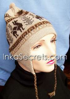 WHOLESALE LOT 25 Alpaca Wool Chullo Ear Flap Hat