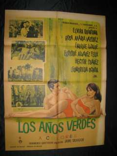 ELVIRA QUINTANA LOS ANOS VERDES MEXICAN POSTER & LOBBY
