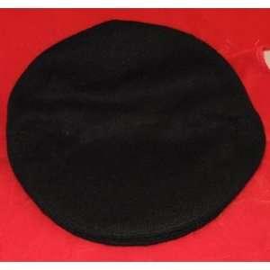 Traditional Irish Tweed Flat Cap Black   Large