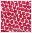 BOOAK Dress Fabric Valentine Candy Heart Dot Sweet Red