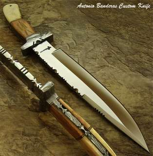 Antonio Banderas UNIQUE 1 OF A KIND CUSTOM BOWIE KNIFE  REAL GIRAFFE
