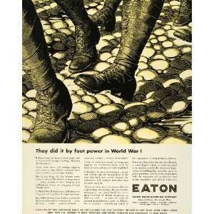 1944 Ad Eaton Manufacturing WWII War Production Aviation