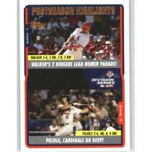 2005 Topps #350 Larry Walker / Albert Pujols NLDS   St