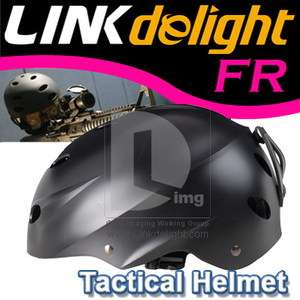 Black Tactical Head Helmet for SWAT Special Force Recon Jumping Riding