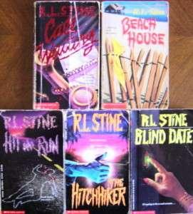 BOOKS R L STINE HIT RUN, HITCHHIKER, BLIND DATE +MORE