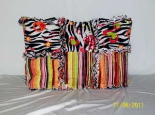 Heart Stripe UNIQUE Rag Quilt Diaper Bag Tote Purse Great Gift