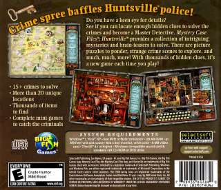 MYSTERY CASE FILES HUNTSVILLE * VISTA & 7 * BRAND NEW