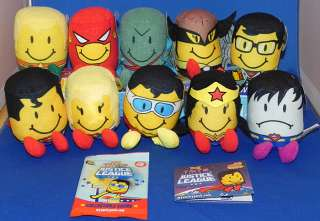 Justice League Sonic Tots Plush Set of 10 w/Card Pack Superman/Wonder