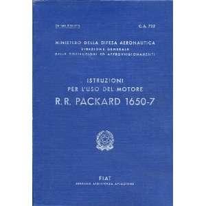 Rolls Royce Packard FIAT Motori Aviazione V 1650  7