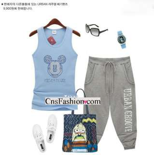 Chic New Womens Azure Blue Mickey Mouse Fit T Shirts Tank Top