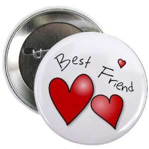 BEST FRIEND HEARTS Mothers Day 2.25 Pinback Button Badge