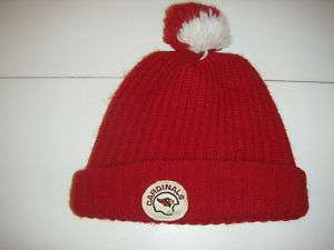 Vtg St. Louis Cardinals Winter Hat Cap Pom Pom Arizona
