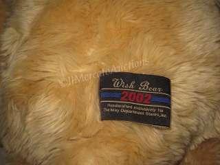 JUMBO 2002 GUND 100th Anniversary Wish BEAR Stuffed Plush TAN Teddy
