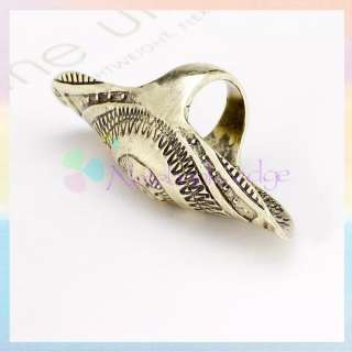 Vintage Antique Style Joint Armor Knuckle Long Full Finger Ring Punk