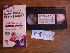 Shari Lewis Lamb Chops Play Along Action Songs VHS HTF 083603841836