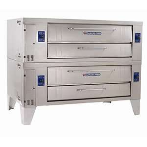 Bakers Pride Y 802BL Double Deck Gas Pizza Deck Oven  240,000 BTU, 66