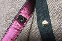 1K 11A Twisted CC Lock Chanel 2 Pocket Cardigan 42 Dress Ribbed Back