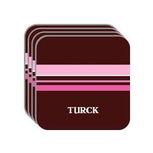 Personal Name Gift   TURCK Set of 4 Mini Mousepad Coasters (pink