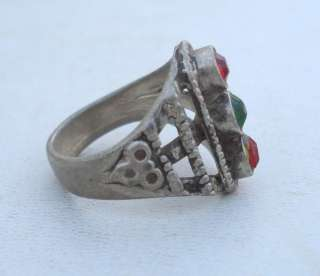VINTAGE ANTIQUE ETHNIC TRIBAL OLD SILVER RING RAJASTHAN