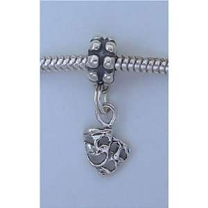 TRAGEDY MASK Sterling Silver Dangle Charm Bead for Troll Biagi Pandora