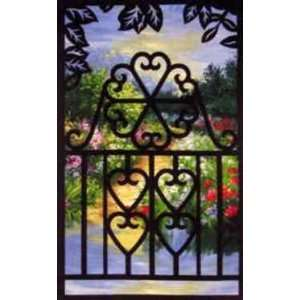 6259 NT Heart Gate Laser Cut Fusible Appliques Arts, Crafts & Sewing