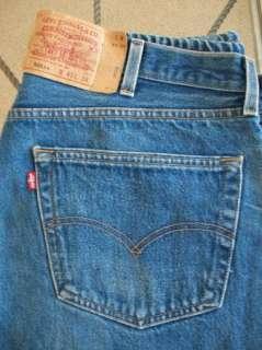 VTG Mens Levis 501xx Button Fly Denim Medium Wash Jeans Pants SIZE 38