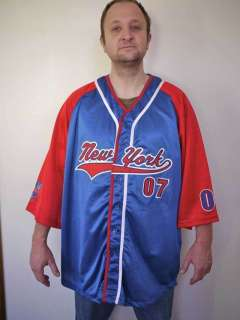 New NWT New York ATHLETICS Red White Blue BASEBALL Jersey Shirt 4XL