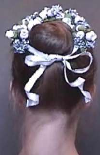 BALLET~WEDDING FLOWER~FLORAL HAIR WREATH~ACCESSORY