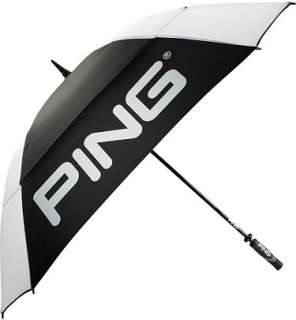 Ping 2012 Golf 68 Tour Double Canopy Umbrella Black/White NEW