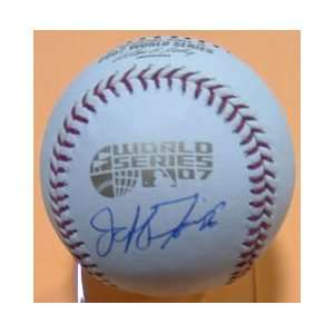 Jeff Francis Signed World Series Baseball Colo Rockies