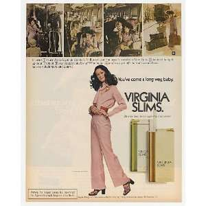 1972 Virginia Slims Cigarette 1913 Mary Patrick Put Off Train