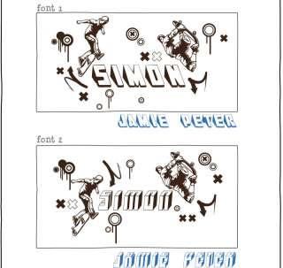 LARGE CUSTOM NAME & SKATEBOARD VINYL WALL ART DECOR STICKER