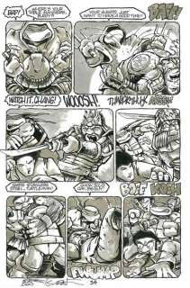 Teenage Mutant Ninja Turtles TMNT Issue 18 pg 34 Original art Kevin
